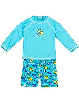 Landora®: Baby- / Kleinkinder-Badebekleidung langärmliges 2er Set mit UV-Schutz 50+ und Oeko-Tex 100 Zertifizierung...