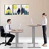 FLOWood Höhenverstellbares Tischgestell Elektrisch Schreibtisch 60 125cm, mit Memory Funktion, passt für alle gängigen Tischplatten, Grau