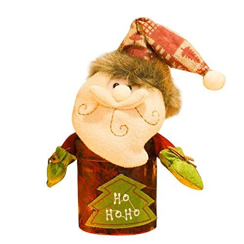 LoveLeiter Santa Claus Snowman Elk Christmas Candy Packaging Christmas Candy Jar Decoration...