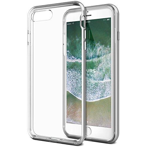 Preisvergleich Produktbild iPhone 8 Plus Hülle, VRS Design® Transparent Schutzhülle [Silber] Doppelschichter Schutz schlagfesten Handyhülle robust Bumper Premium TPU hart Silikon und PC durchsichtig cover - kabelloses Laden kompatibel [Crystal Bumper] für Apple iPhone 8 Plus