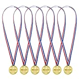 24 Pezzi Bambini Vincitore Medaglie di Plastica Premio Medaglia Festa Giocattolo (dorato)