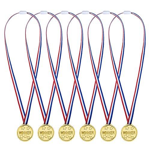 24 Piezas Medallas de Ganador de Plástico Juguete de Medalla de Fiesta...