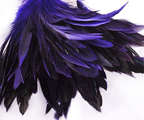 Kostüm Hahn Machen - 40pcs Violett Purpur Gefärbte Hahn Federn, Anhänger, Ohrringe Schmuck, Modewaren Sattel Kostüm-Dreamcatcher 12-18cm 2