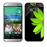 Fubaoda HTC One M8 / M8S Hülle [Weiße Chrysanthemen] Kratzfeste Plating TPU Case für HTC One M8 / M8S Case Schutzhülle Silikon Crystal Case Durchsichtig für HTC One M8 / M8S
