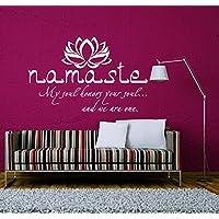 Wandtattoo Zitat Buddha Yoga Lotus Sprüche Namaste Om Wandaufkleber Spruch  Vinyl Aufkleber Wanddeko Fototapete Wandsticker Dekoration
