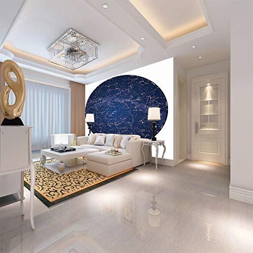 3D wandbild Wandaufkleber sternkarte Dekor Druck Kunst Poster Tapeten Wandbilder für Sofa wohnzimmer schlafzimmer Dekoration200cm(W) x150cm(H)-4 Streifen -