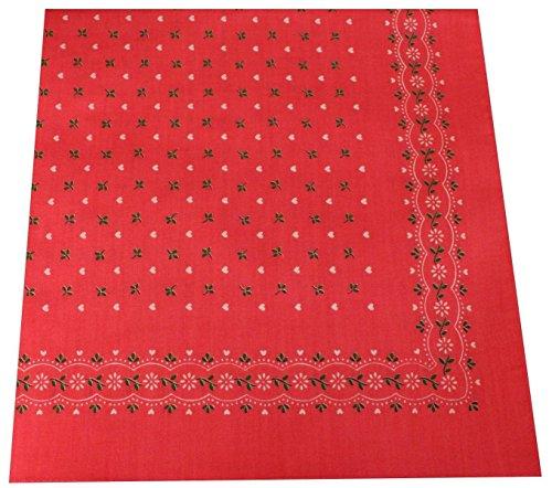 opftuch Halstuch Nickituch in 100 Baumwolle für Damen und Herren Farbe Herzen Rosa Grösse 54 cm x 54 cm (Karneval Kostüm Ideen Für Jungen)