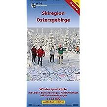 Wintersportkarte Skiregion Osterzgebirge: Wintersportkarte mit Loipen, Skiwanderwegen, Abfahrtshängen und Winterwanderwegen 1:33 000 GPS-fähig wetterfest-reißfest