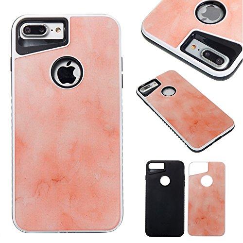 Scellé à double couche Marble Stone Pattern d'image PC + TPU Case Cover Shell pour iPhone 7 Plus ( Color : A ) D