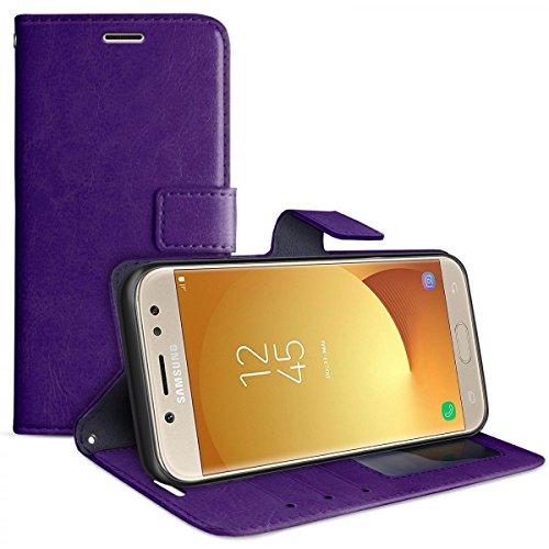 eFabrik Smartphone Cover per Samsung Galaxy J5 2017 DUOS Custodia di Protezione SM-J530F Accessori Similpelle, Colore:Porpora