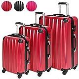 TecTake Policarbonato trolley valigia valigie set rigido borsa - disponibile in diversi colori -