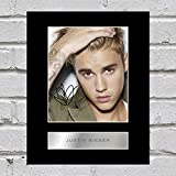 Foto di Justin Bieber con cornice e autografo