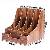 QFFL zhuomianshujia Schreibtisch-Aufbewahrungsbox aus Holz Triple Quadruple Multicolor optionales Büro-Regal (4 Farben, 4 Styles) Bücherregale (Farbe : KT, größe : 23.5×32×31cm)