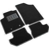 4 Stück Schwarz Fußmatten Gummi Citroen C2 ab 2003