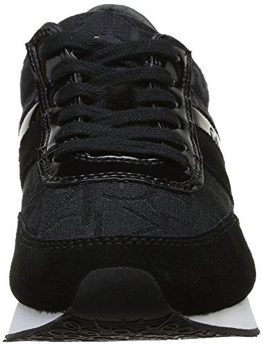 Calvin Klein Jeans Tea, Baskets mode femme Noir (Bbk)