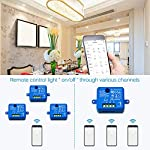 LoraTap-Interruttore-WiFi-Alexa-Interruttore-Intelligente-Telecomando-Senza-Fili-con-Telefono-App-Android-iOS-Controllo-Vocale-con-Alexa-Echo-Google-Home-IFTTT-2pz-Ricevitori-a-Rel-2500W