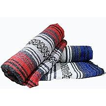 Yogi-bare Messicano stile yoga coperta - meditazione coperta / relax / yoga studio / boho copriletto - Rosso