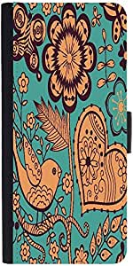 Snoogg Seamless Texture With Flowersdesigner Protective Flip Case Cover For A...