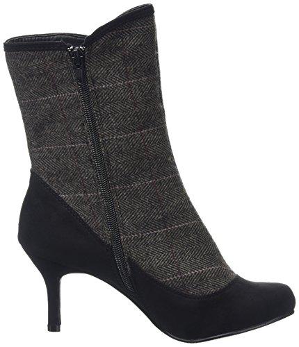 Joe Browns Enchanting Tweedy Ankle Boots, Bottes Femme Black (Black/Tweed)