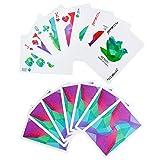 joyoldelf Eleganti Poker Impermeabile con Motivo a Rombi, PVC Colorato Posteriore di Carte da Gioco con Delicata Confezione Regalo in Plastica, Ideale per Magia, Feste e Giochi