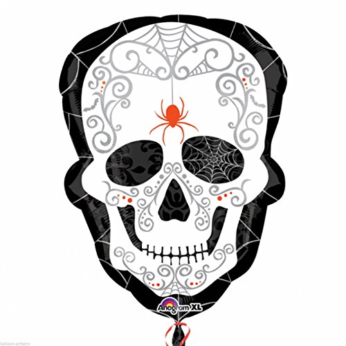 Generique - Dia de los Muertos-Folienballon Halloween Partydeko bunt 45x61cm
