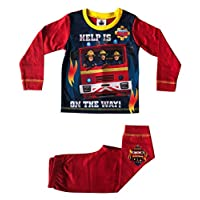 Cup of Tees Fireman Sam Help is On The Way Boys Red Snuggle Fit Pyjamas