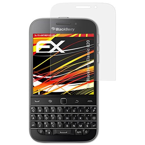 atFolix Schutzfolie kompatibel mit BlackBerry Classic Q20 Bildschirmschutzfolie, HD-Entspiegelung FX Folie (3X)
