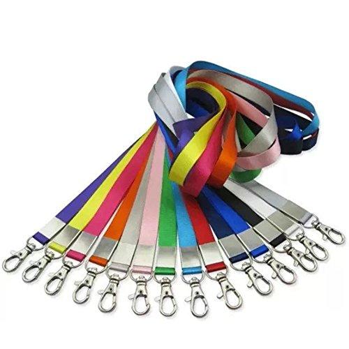 BEETEST 20 Stück Hals Lanyards Straps mit Metall Haken 18 Zoll Länge für ID Karten Abzeichen Halter gesendet zufällig Farbe (Um Den Hals Id-halter)
