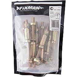 Fixman 851120 Goujons à expansion pour maçonnerie Lot de 10, M8 65 x 120 mm