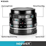 Neewer NW-E-50-2.0 50mm f/2.0 Manueller Fokus Prime - 8