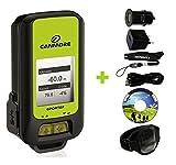 GP-102+ Dispositivo multiuso GPS (verde), Set con caricabatterie USB e Fascia da braccio sportiva, Sport Tracker, Registratore GPS, 300.000 punti di via