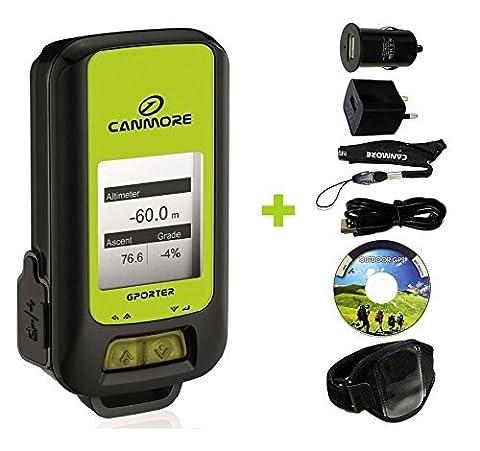 g Kit de 102+ GPS multifonctionnel (Vert) Maxi pour porter GP avec bracelet, USB d'alimentation et adaptateur allume-cigare
