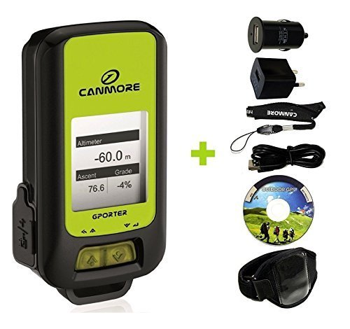 Auslesen Netzteil (G-PORTER GP-102+ GPS- MULTIFUNKTIONSGERÄT (grün) MAXI SET mit Armband, USB Netzteil und KFZ-Adapter)