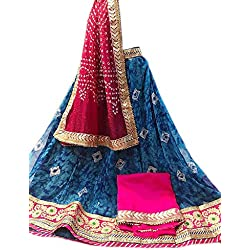 K.K.Sales Georgette Lehenga Choli (JBL-299_Blue_Free Size )