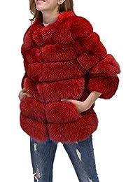 4f5f8b3a59 Amazon.it: pelliccia ecologica - Rosso / Donna: Abbigliamento