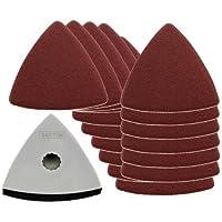 Lame Saxton 80mm Delta Abrasivo Pad + Carta per Worx