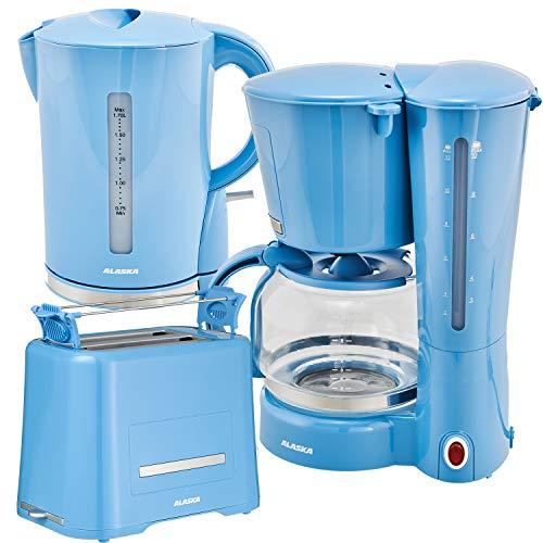 Alaska Frühstücksset 2209 | 3 in 1 | Wasserkocher Toaster Kaffeemaschine | 12 Tassen | 1,7 L |...