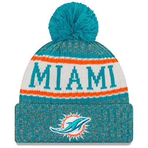New Era ONF18 Sport Knit Bommelmütze Miami Dolphins Türkis, Size:ONE Size