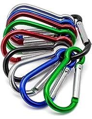 Akord Modell 10S Schlüsselbund Klettern Wandern Camp Frühling Snap Clip Karabinerhaken, mehrfarbig