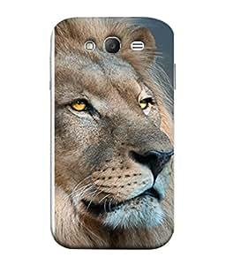 FUSON Designer Back Case Cover for Samsung Galaxy Grand Neo I9060 :: Samsung Galaxy Grand Lite (Jungle King Stearing Aslan Painting Oil Art )