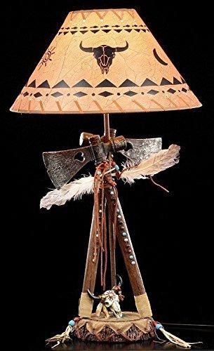 Wilder Westen Lampe - Zwei Tomahawks (Western-stil Lampenschirme)