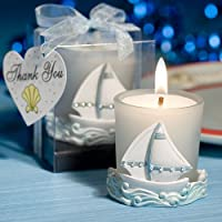 SOLEFAVORS Nautical Themed Boat Candles