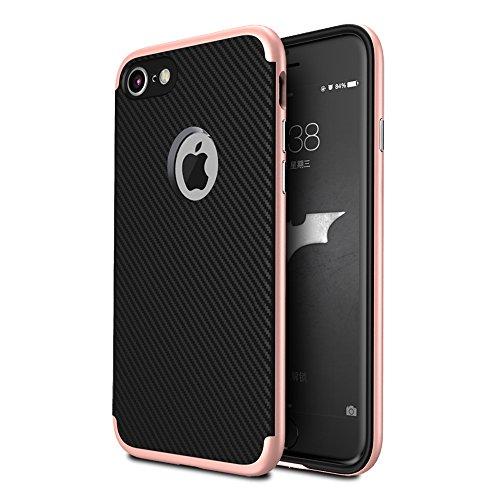 iPhone 7 Funda Ceavis,[A prueba de golpes] Soft TPU y Combo delgada armadura rígida caja de parachoques dura de la PC para iPhone 7 4.7 Inch.(Oro rosa)