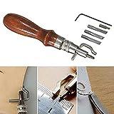 Malayas®5 in 1 Leder Werkzeug Nahtversenker Einstellbar Rille Groover Kanten Nähen Schneiden DIY Leder Handwerkzeug Werkzeug
