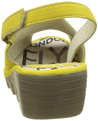Fly London Palp814fly, Sandali con Cinturino Alla Caviglia Donna Giallo (Lemon)