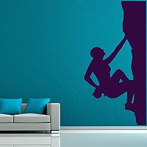 azutura Escalada Extrema Vinilos Deportes Pegatina Decorativos Pared Niños niños Decoración del hogar Disponible en 5 tamaños y 25 Colores