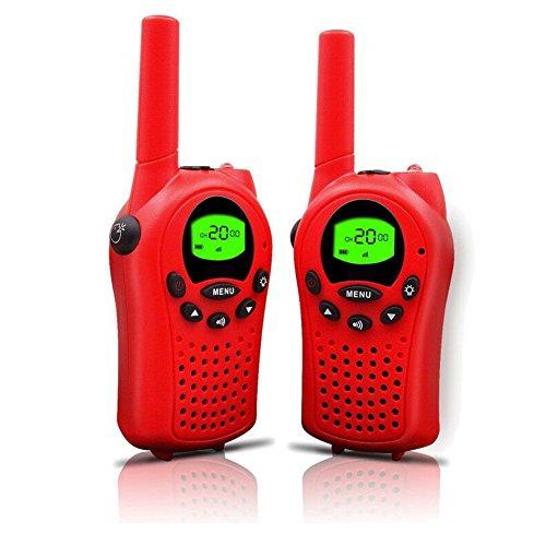 Generisch T668 Wiederaufladbar Talkie Walkie Kinder 8 Kanäle PMR 446 mit LC-Display (Rot)