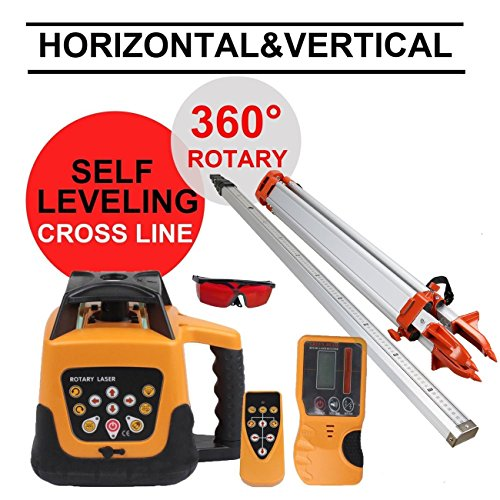 iglobalbuy-red-beam-self-leveling-rotary-remote-control-laser-measuring-163-m-aluminum-tripod-5m-sta
