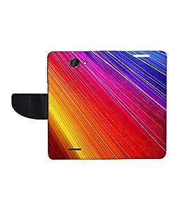 KolorEdge Printed Flip Cover For HTC Desire 516 - Multicolor(50KeMLogo7807HTC516)