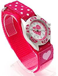 Ravel Kinder-Armbanduhr Ravel Girls Polka Dot Velcro Watch Analog Kunststoff mehrfarbig R1507.24